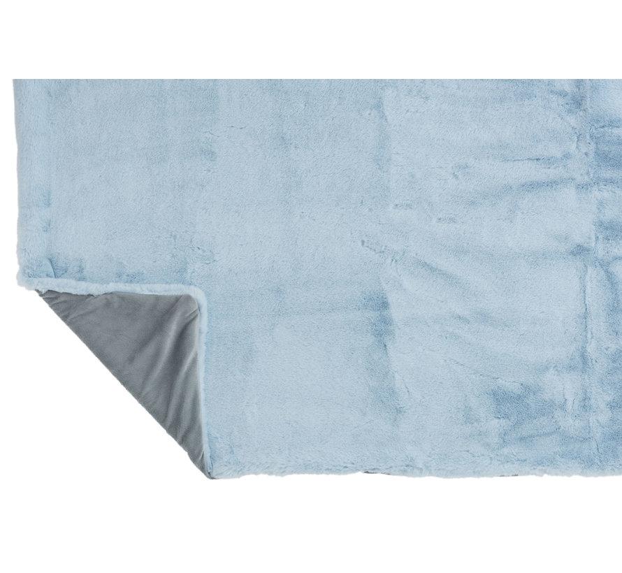 Plaid Polyester Extra Soft - Light blue