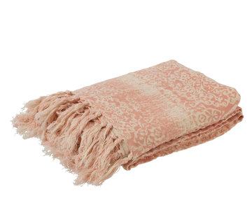J -Line Plaid Cotton Oriental tassels - Pink