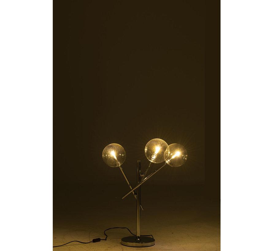 Tafellamp Modern Strak Aluminium - Zilver