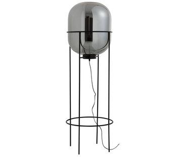J -Line Staande Lamp Modern Glas Metaal Zilver Zwart - Large