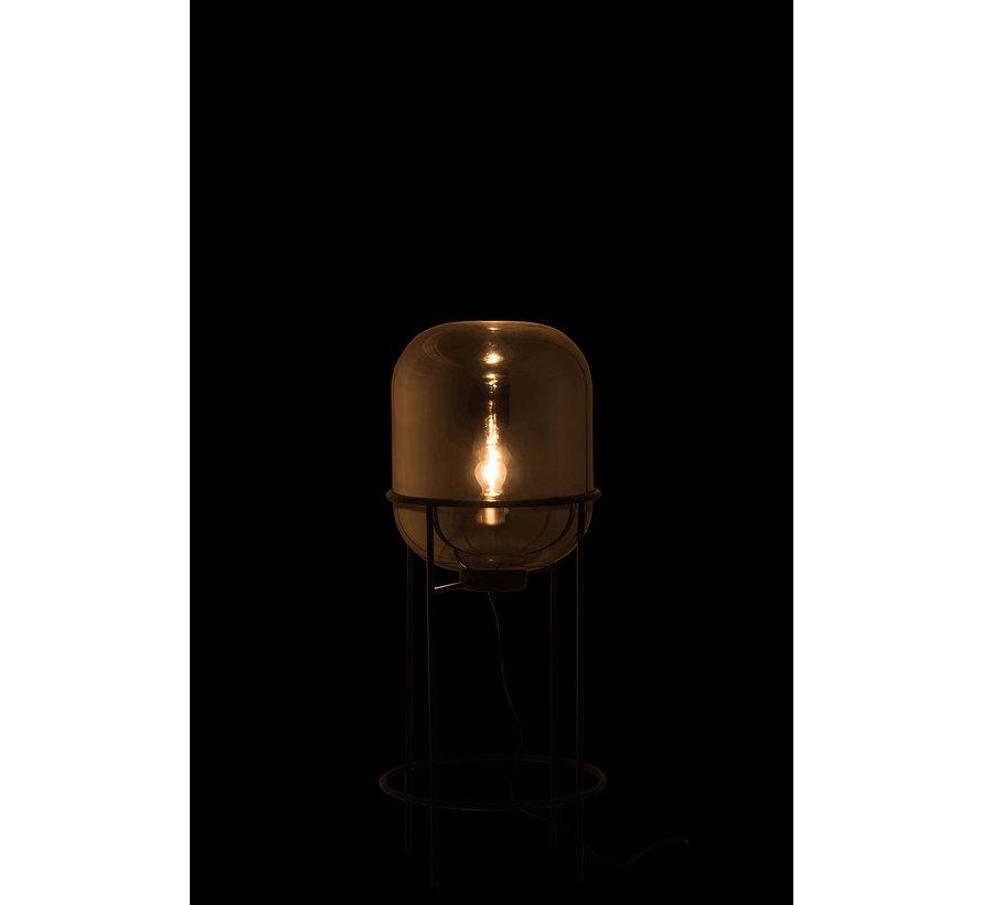 Staande Lamp Modern Glas Metaal Zilver Zwart - Medium