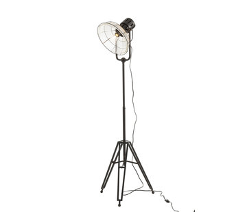 J -Line Floor Lamp industrial Glass Metal - Black
