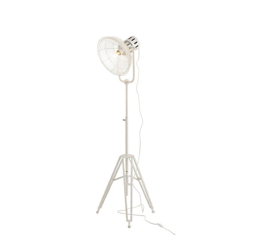 Staande Lamp industrieel Glas Metaal - Wit