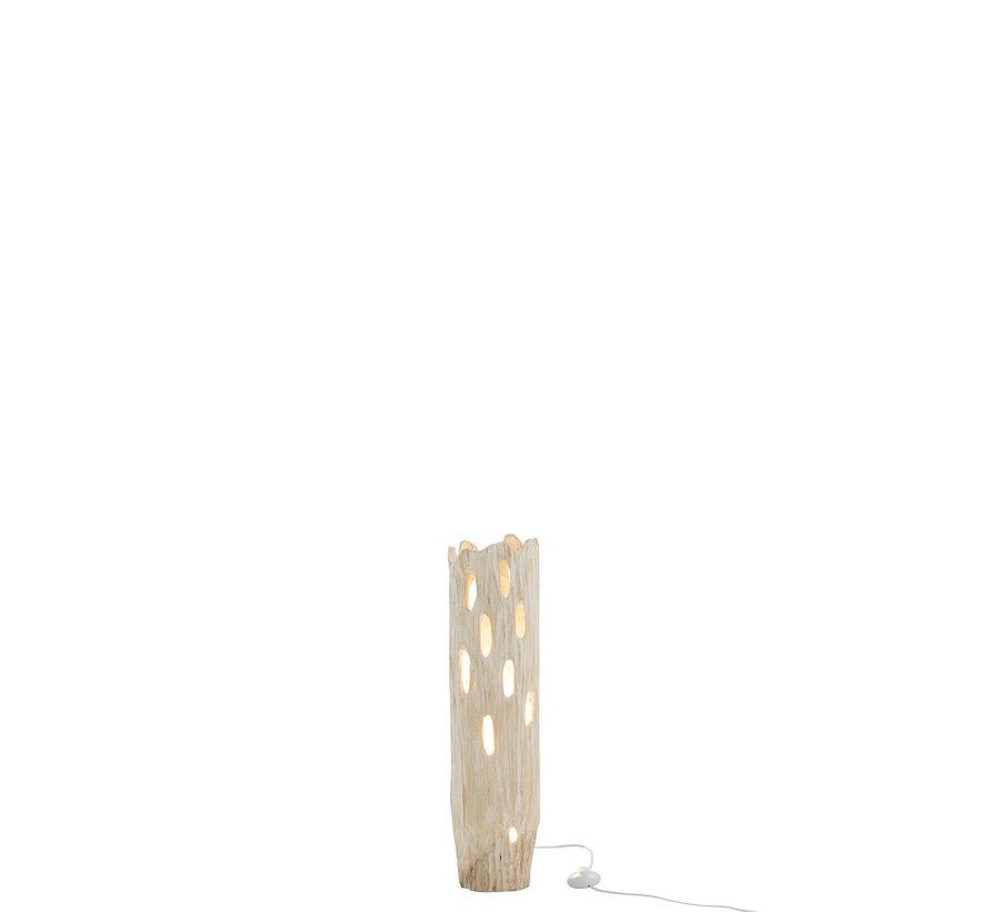 Tafellamp Landelijk Stam Paulownia - Wit
