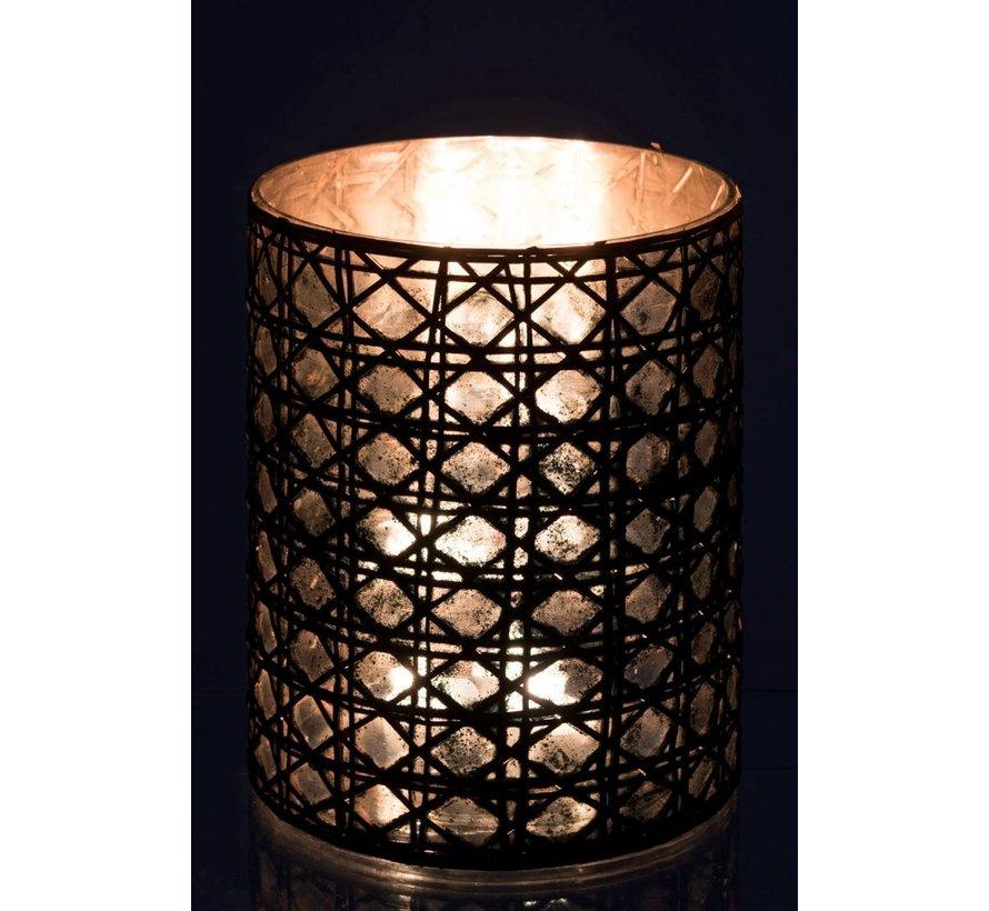 Tealight holder Glass Reed Brown - XL