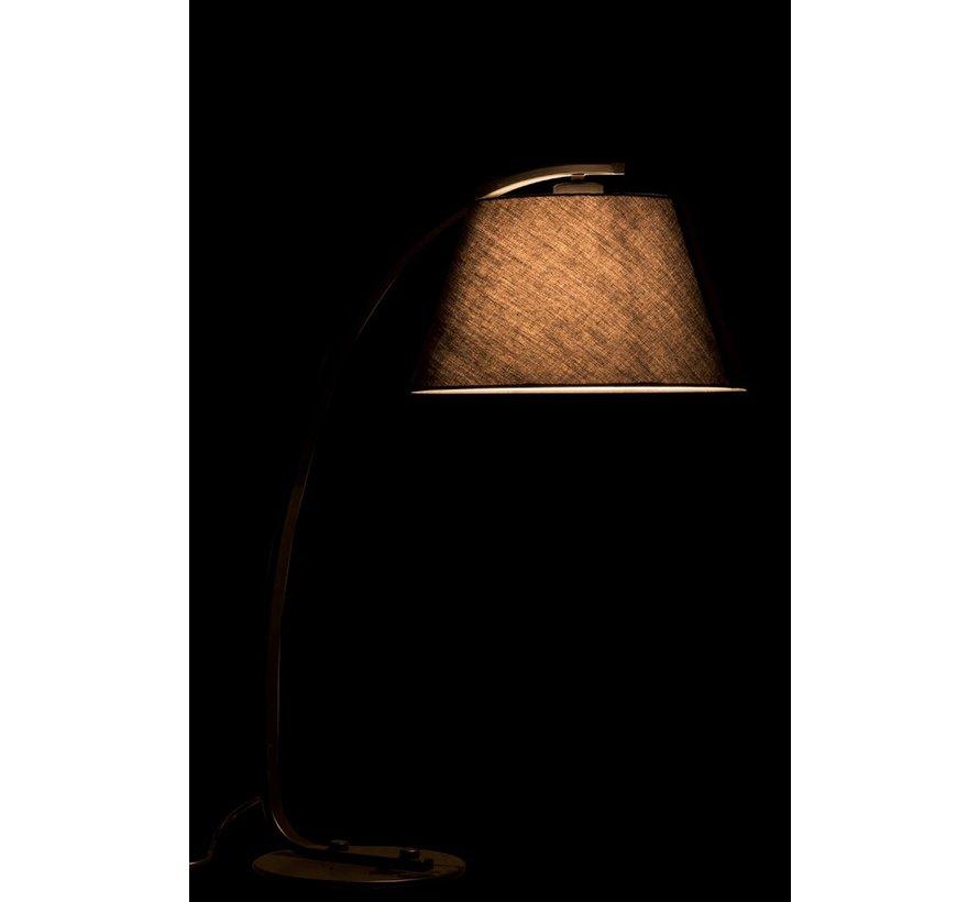 Tafellamp Boog Moderne Metaal Rond Kap - Zwart