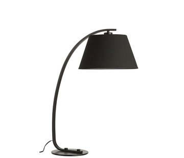 J -Line Table lamp Arc Modern Metal Round Shade - Black