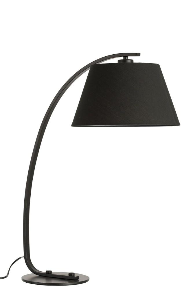 Beste Tafellamp Boog Moderne Metaal Rond Kap - Zwart - Sl-homedecoration.com PF-59