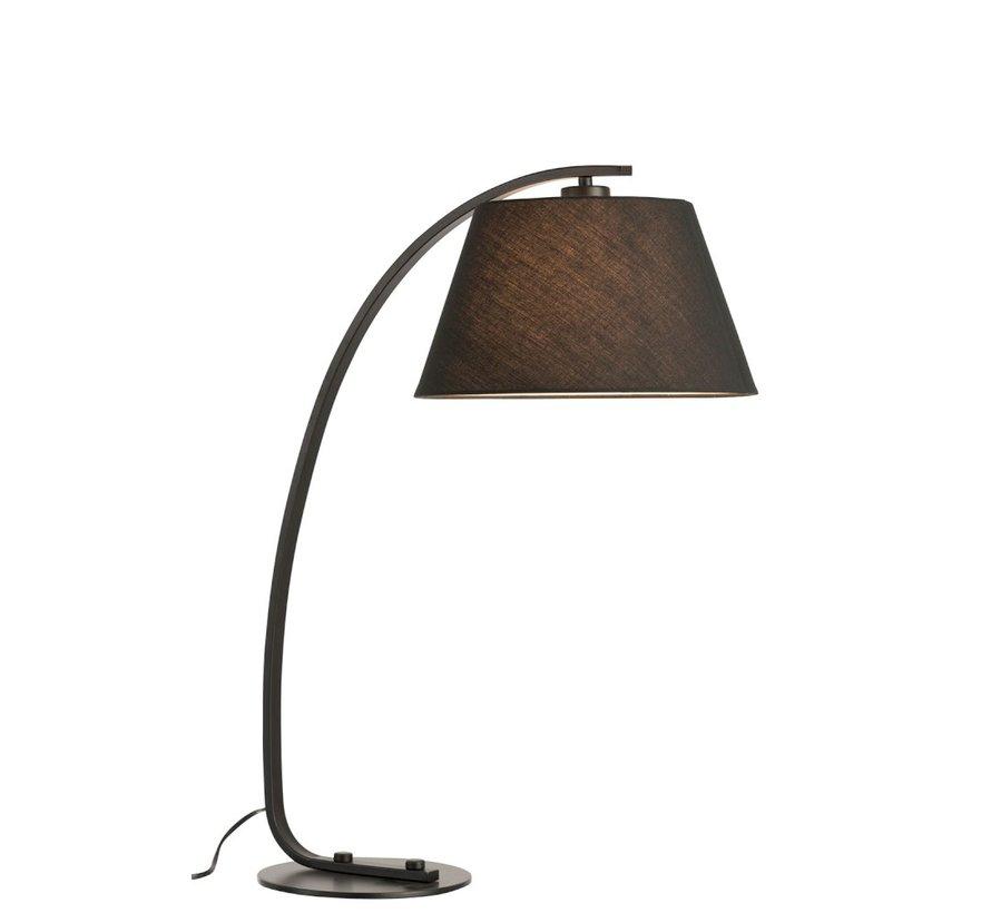 Table lamp Arc Modern Metal Round Shade - Black