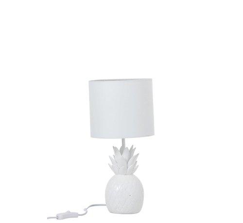 J -Line Tafellamp Polyresin Ananas - Wit