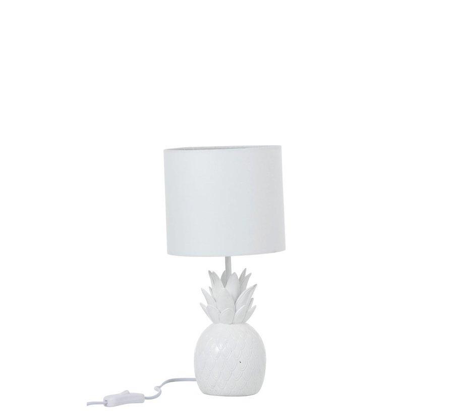 Table lamp Polyresin Pineapple - White