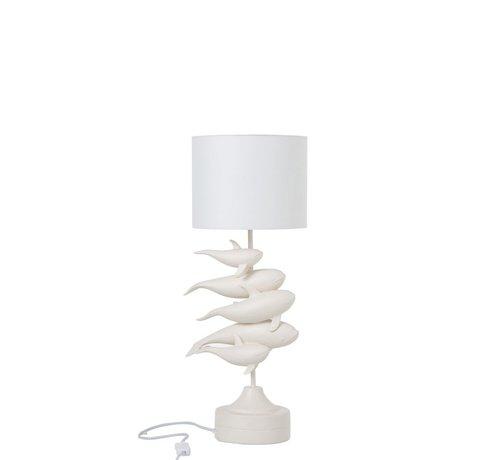 J -Line Tafellamp Polyresin Elegante Dolfijnen - Wit