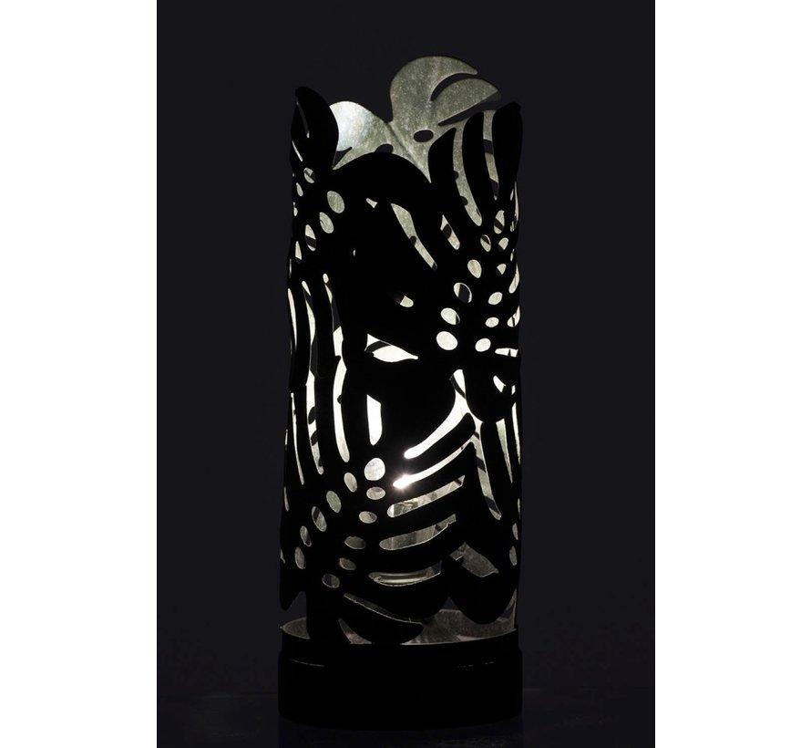 Tafellamp Led Cilinder Bladeren Metaal - Groen