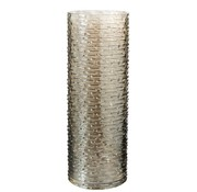 J -Line Vaas Glas Cilinder Geribbeld Beige - Large