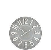 J -Line Wall Clock Round Metal Gray White - Large