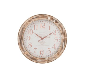 J -Line Wall Clock Round MDf Wood Brown - Small