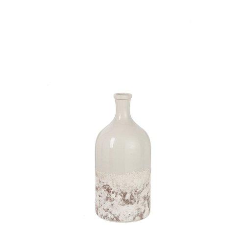 J -Line Bottles Vase Ceramic Oceane Brown Gray - Small