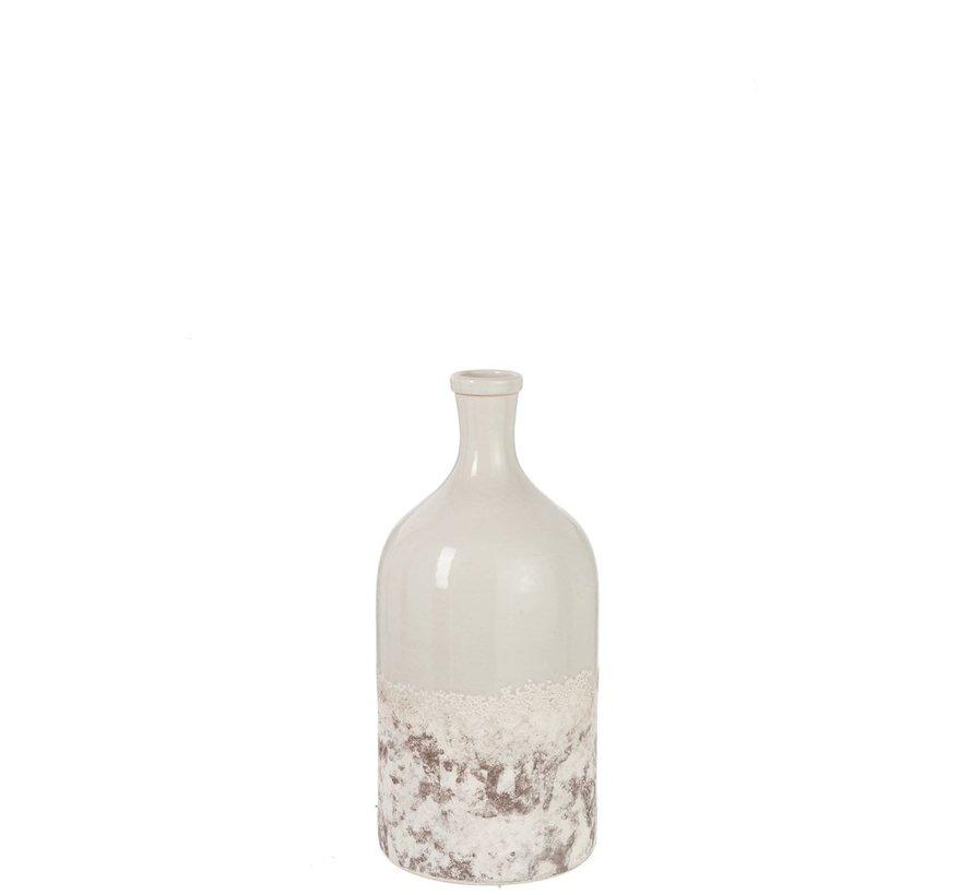 Flessen Vaas Keramiek Oceane Bruin Grijs - Small