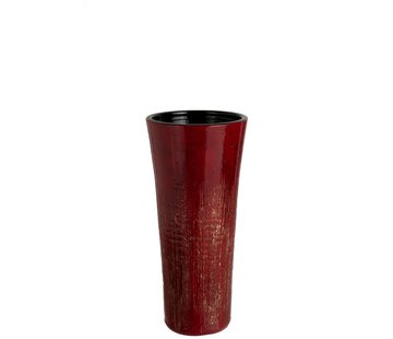 J -Line Vase Ceramic Speckled Gold Red - Small