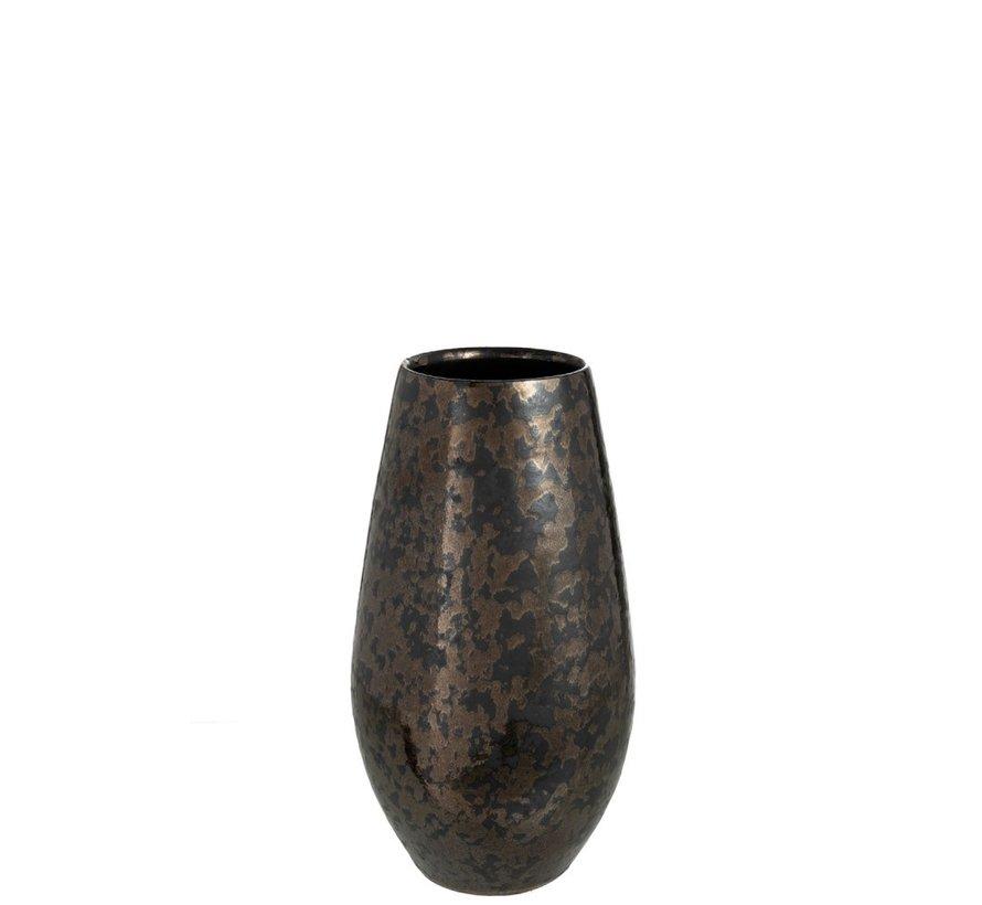 Vaas Keramiek Antique Smokey Zwart Roest - Small