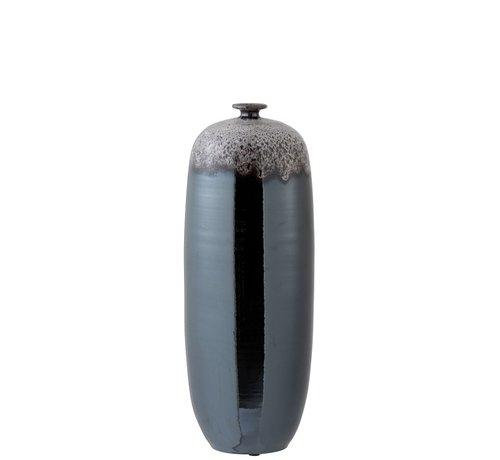J -Line Bottle Vase Ceramic Speckles Metal Brown Gray - Large