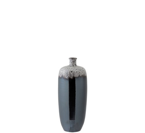 J -Line Flessen Vaas Keramiek Spikkels Metal Bruin Grijs - Medium