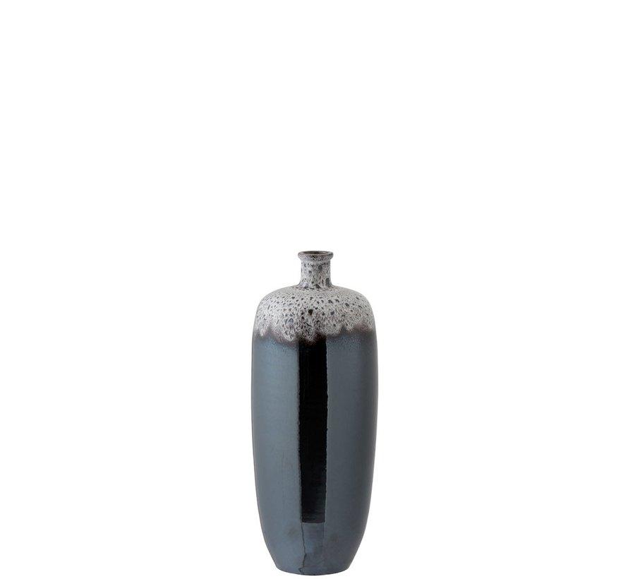 Flessen Vaas Keramiek Spikkels Metal Bruin Grijs - Medium