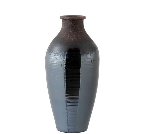 J -Line Bottles Vase Ceramic Bright Brown - Large