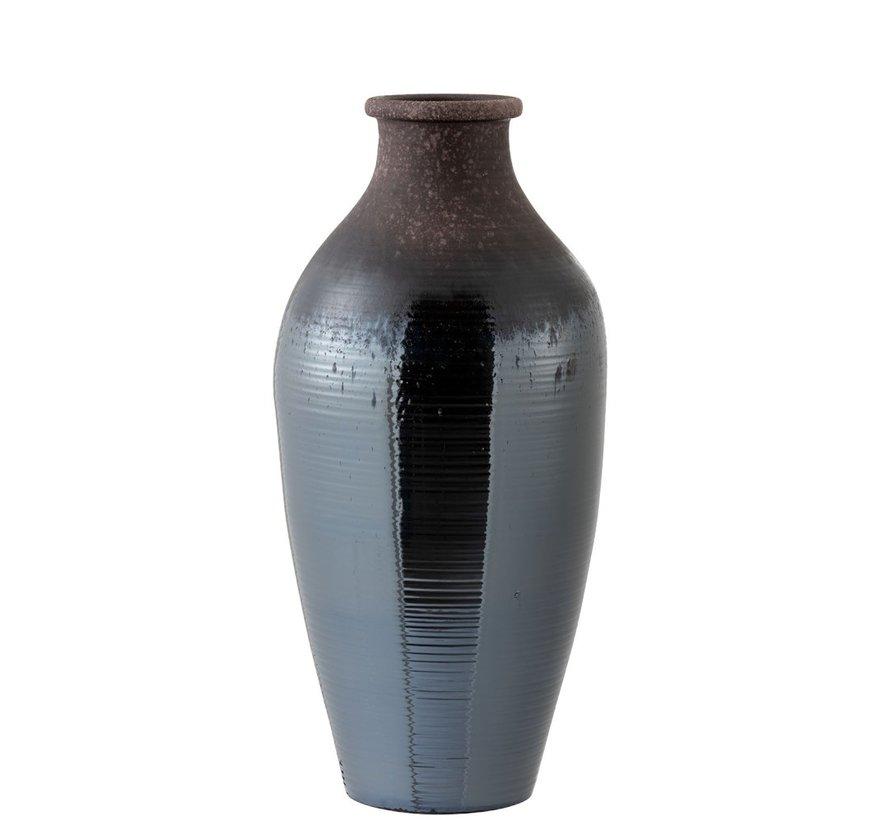 Flessen Vaas Keramiek Blinkend Bruin - Large