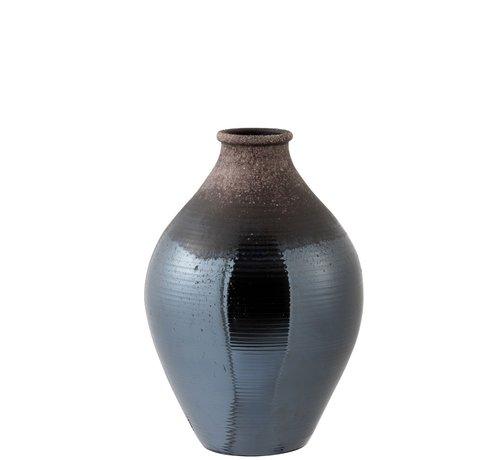 J -Line Bottles Vase Ceramic Bright Brown - Small