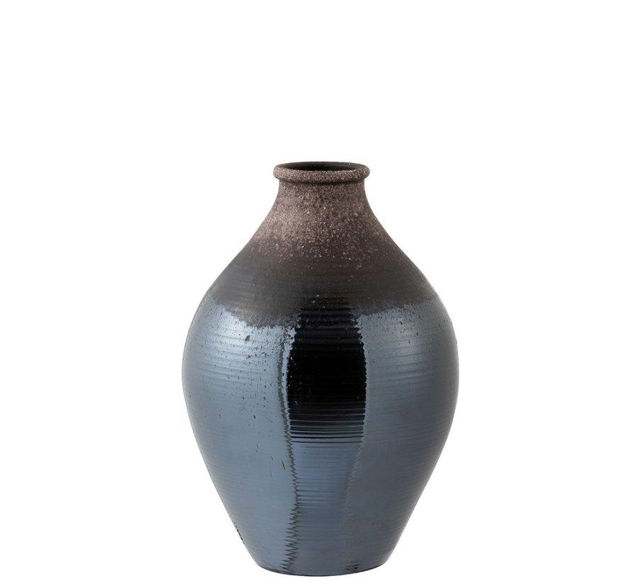 Bottles Vase Ceramic Bright Brown - Small