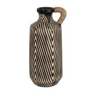 J -Line Bottles Vase Ceramic Ethnic Brown Beige - Large