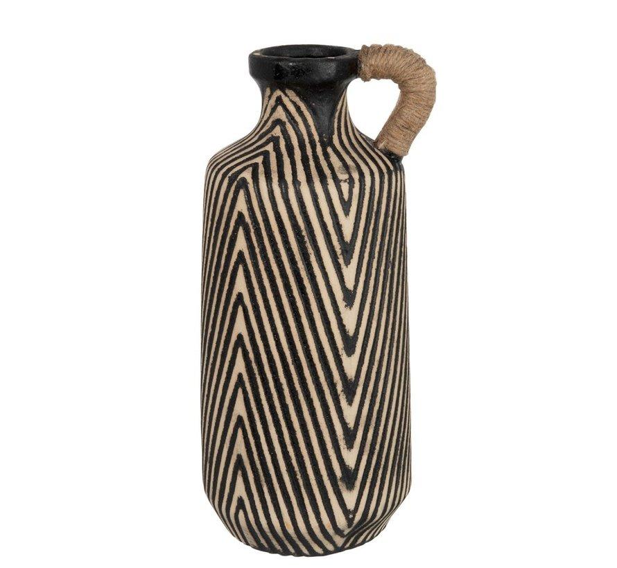 Bottles Vase Ceramic Ethnic Brown Beige - Large