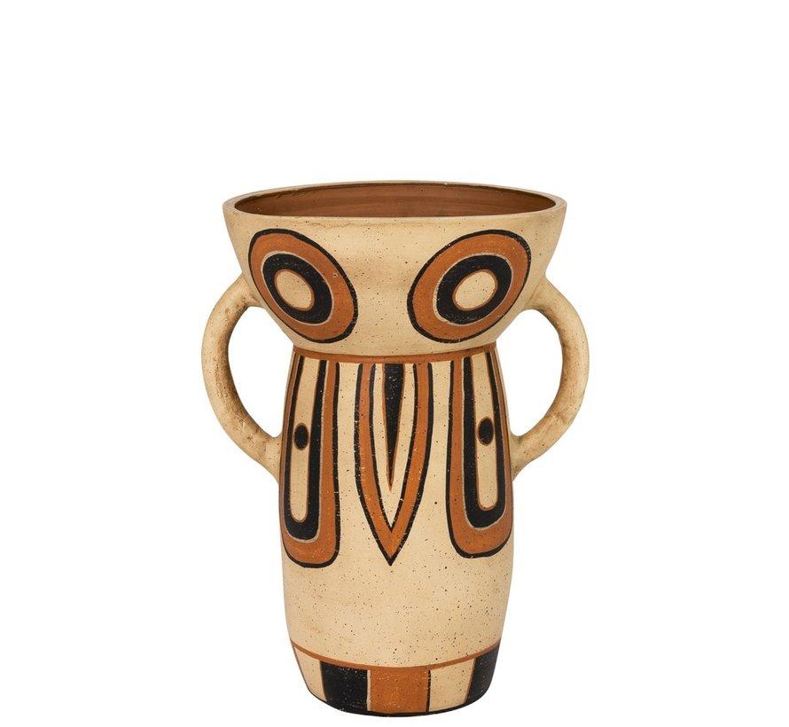 Vaas terracotta Ethnic Oren Mix Kleuren - Large