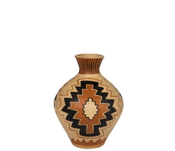 J -Line Bottles Vase Terracotta Ethnic Mix Colors - Large