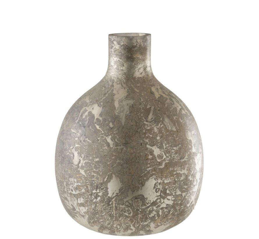 Bottles Vase Glass Light Gray - Large
