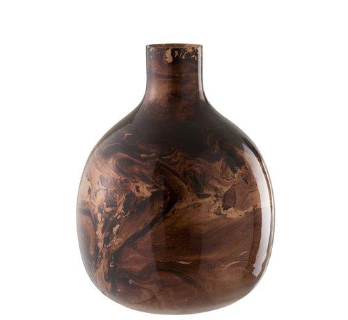 J -Line Bottles Vase Glass Mix Brown - Large