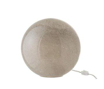 J -Line Table Lamp Glass Round Bubbles Light Gray - Large