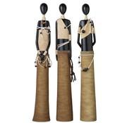 J -Line Decoratie Beeldjes Afrikaanse Figuren Zwart - Beige