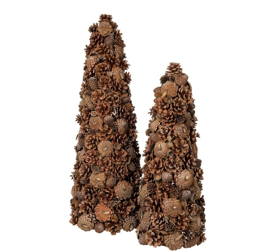 Decoration Cone Pine Cone Sugar Brown - Large