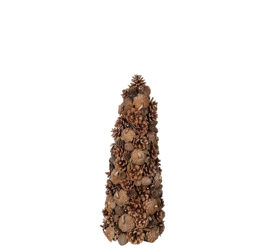 Decoratie Kegel Dennenappel Suiker Bruin - Small