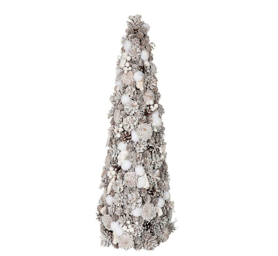Decoration Cone Pine Cones Cotton White - Large