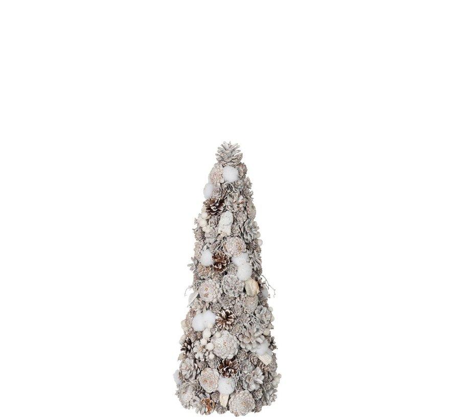 Decoration Cone Pine Cones Cotton White - Small