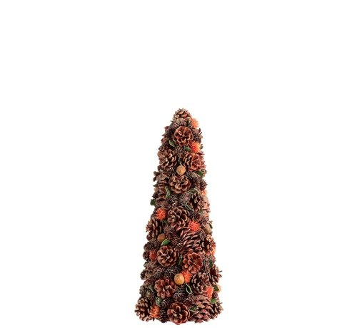 J-Line  Decoration Cone Pine Cones Flowers Rust Green - Small