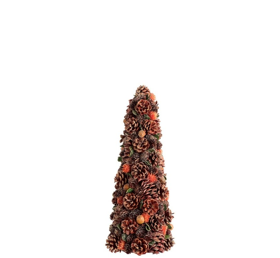 Decoration Cone Pine Cones Flowers Rust Green - Small