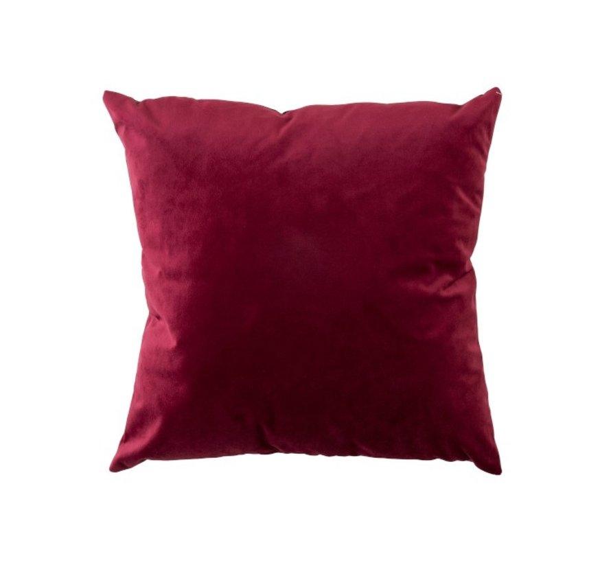 Cushion Velor Square Red - Bordeaux