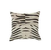 J -Line Cushion Leather Square Animal print Zebra Black - White