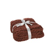 J-Line Plaid Knitted Acrylic Soft - Red