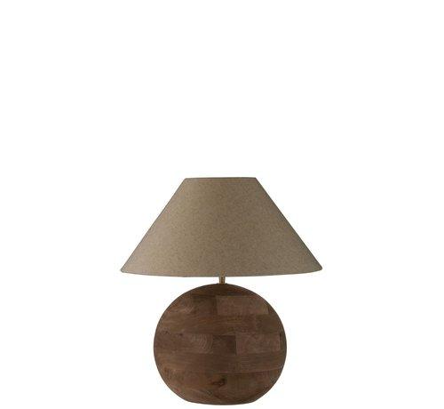 J -Line Tafellamp Bol Mangohout Bruin - Small