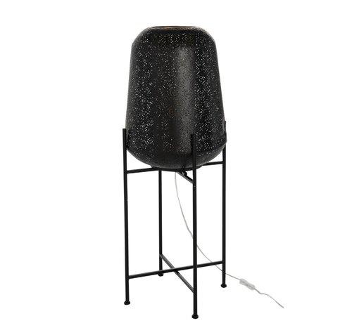 J -Line Floor Lamp Metal Oriental Foot Black - Large